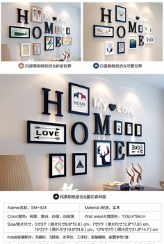 Nice Wall Decoration Ideas With Photo Frames And Letters