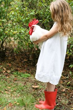 As promised, here is the simple pillowcase nightie tutorial I use to make my daughters' nightgowns each year. Keep an eye out for sweet pillowcases when you are out thrifting, but don't use the ones… Country Charm, Rustic Charm, Country Life, Country Girls, Country Living, Country Roads, Red Farmhouse, Farmhouse Decor, Little Red Hen