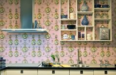 'The Curiosities' wallpaper designed by Melissa Braconnier for Graduate Collection