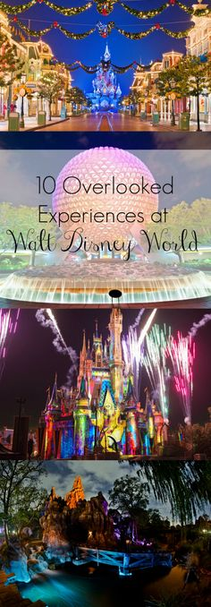10 overlooked experiences at Walt Disney World, including Celebrate the Magic, Big Thunder Mountain Railroad at night, and L'Artisian Des Glaces! The Ultimate Pinterest Party, Week 57