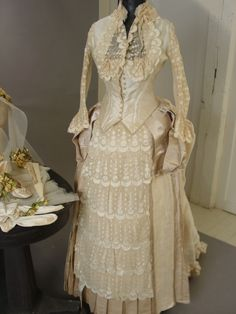 1880's silk and lace.