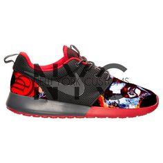 Nike Roshe Run donker grijs rood Daredevil V5 Edition door NYCustoms
