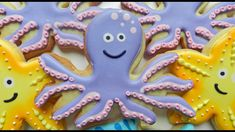 How to Decorate an Octopus Cookie No Flour Cookies, Sugar Cookies, Craft Activities For Kids, Crafts For Kids, Octopus Cake, How To Make Cookies, Making Cookies, 6th Birthday Cakes, Country Bread