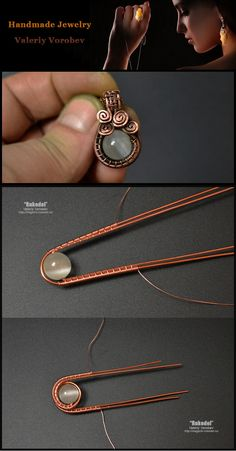 Small pendant made of copper wire and beads. wire wrap tutorials, wire wrap, wire wrapped, wire jewelry, handmade Informations About Small pendant made of copper wire and beads. Handmade Wire Jewelry, Wire Jewelry Designs, Copper Wire Jewelry, Wire Jewelry Making, Jewelry Making Tutorials, Beaded Jewelry, Diamond Jewelry, Make Jewelry, Jewelry Accessories