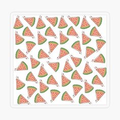 'Summer Watermelon Taste' Canvas Print by EllenBeb Plastic Stickers, Free Stickers, Canvas Prints, Art Prints, Pink Patterns, Sea And Ocean, Transparent Stickers, Sticker Design, Watermelon