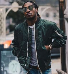 Instagram media by upscalehype - @Future wears a @sacaiofficial bomber jacket and a #TomFord belt. #future #sacai
