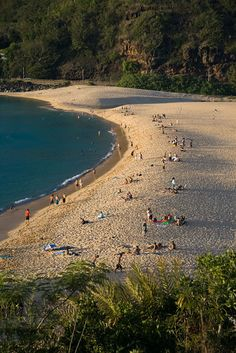 Waimea Beach at the end of the day  I just love the shadows created by the setting sun