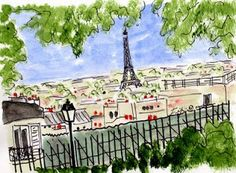 la belle vie: Ooh La Lundi  #paris #illustration