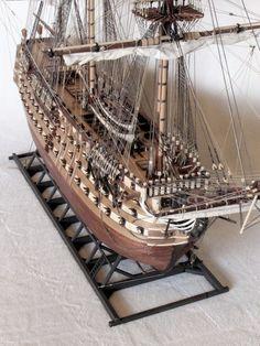 Image of Santisima Trinidad Model Ship Building, Boat Building, Model Sailing Ships, Wooden Model Boats, Scale Model Ships, Man Of War, Wooden Ship, Boat Plans, Ship Art