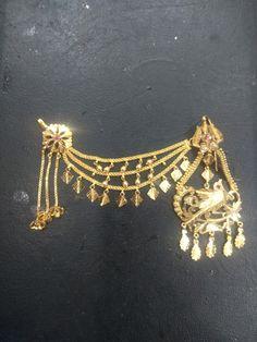Jewelry Design Earrings, Gold Earrings Designs, Gold Jewellery Design, Bridal Jewellery, Gold Jewelry, Antique Jewellery Designs, Antique Jewelry, Punjab Culture, Gold Designs