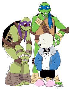 Plushs by TMNT e Undertale 💜 meus dois amores Undertale Memes, Undertale Drawings, Undertale Cute, Undertale Comic, Ninja Turtles Pictures, Teenage Mutant Ninja Turtles 2012, Fan Art, Tmnt Swag, Tmnt Human