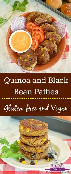 Naturally sweet meatless quinoa and black beans patties are packed with nutrients, fiber and ton of flavor! Easy to put together recipe that comes together under an hour.