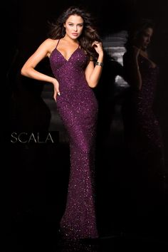 #SCALA  Fall 2016 style 47551 Wine. #scalausa #sequins #gown #fall2k16 #hoco2k16 #homecomingdress #dress #specialoccasion #sparkle #redcarpet #fall2016 #pageant www.scalausa.com