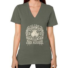 You can't scare me I have a Jack RusselV-Neck (on woman)