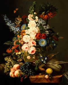 Nature morte aux fleurs,Cornelius Krieghoff, 1846