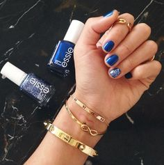 Essy Blue nail polish by song of style