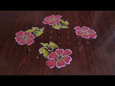 Easy and simple bird's 🐦 rangoli only dots Indian Rangoli Designs, Rangoli Designs With Dots, Beautiful Rangoli Designs, Kolam Designs, Easy Rangoli Patterns, Festival Rangoli, Easy Bird, Small Rangoli, Art Lessons