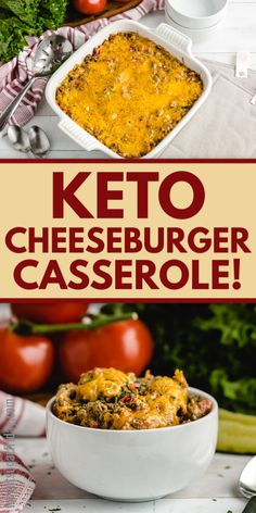 Craving a keto cheeseburger? Try this AMAZING Keto Cheeseburger Casserole for all the flavors of a cheeseburger without the carbs. Pickles included! This family friendly keto dinner and low carb dinner contains only 6g net carbs per serving. Great for the keto diet or low carb diet! Healthy Low Carb Recipes, Low Carb Dinner Recipes, Keto Dinner, Healthy Cooking, Keto Recipes, Low Carb Meal Plan, Low Carb Diet, Cheeseburger Casserole, Casserole Dishes