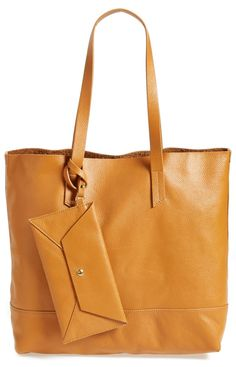 this buttery-soft leather tote is going to be the perfect go-to bag for autumn @nordstrom