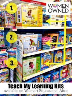 Teach My Learning Kits now available on the Walmart Educational Aisle