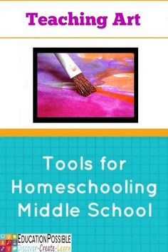 I know many homeschooling families worry about teaching art to their teens, especially if they don't consider themselves artistic. Luckily, there are plenty of resources available to help you fulfill that art requirement. From art textbooks to online art curriculum, I'm sharing some great tools you can use to teach art to older kids in your home school.