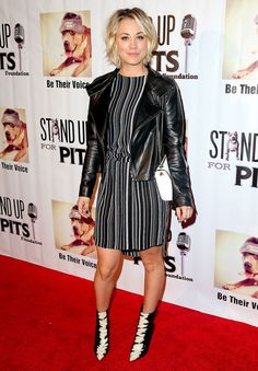 Kaley Cuoco hosted Stand Up for Pits 2015 in Hollywood on Sunday, Nov. 8, where she teared up referencing her separation from husband Ryan Sweeting