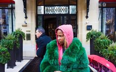 @frontrow___ hoodie fw18 ➖ Green Fur, Fur Coat, Hoodies, Jackets, Beauty, Instagram, Style, Fashion, Down Jackets