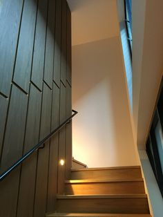 Timber veneer clad stair core by POC+P architects