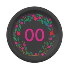 Womens Beautiful 18th 21st 30th 40th 50th Birthday Paper Plate