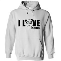 Love panda T Shirts, Hoodies, Sweatshirts - #sleeve #full zip hoodie. MORE INFO => https://www.sunfrog.com/Pets/Love-panda-5639-White-m2kv-Hoodie.html?id=60505