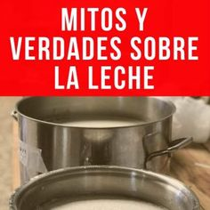 mitos-verdades-sobre-la-leche-pinterest Empanadas, Sin Gluten, Crepes, Bakery, Food And Drink, Cooking, Cauliflower Pizza Dough, Ginger Beer, Coconut Yogurt