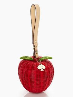 pack a picnic apple wristlet by Kate Spade