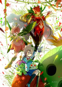 Digimon Adventure Tri: Mimi with Palmon's Evolutions (Yuramon-Tanemon-Palmon-Togemon-Lillymon-Rosemon) Digimon Adventure Tri., Digimon Wallpaper, Gatomon, Digimon Frontier, Digimon Tamers, Digimon Digital Monsters, Animation, Cardcaptor Sakura, Animes Wallpapers