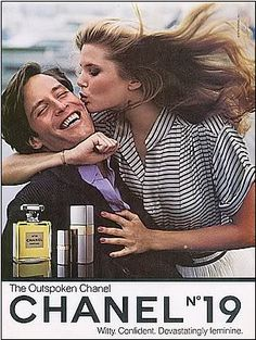 Christie Brinkley for Chanel No. 19, 1979...THIS WAS MY 1ST PERFUME I EVER GOT... THANKS DAD, YOU CREATED A MONSTER!!!!