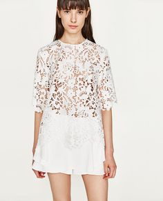 ZARA WOMAN 4786/051 $49.90 LACE TOP