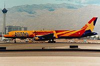 "America West Airlines, Boeing 757-23A, Las Vegas - McCarran International, Nevada, January 1996, ""Arizona"" N916AW, Michael eaton"