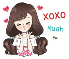 Boobib Sweet Pastels (English version) – LINE stickers Love Cartoon Couple, Cartoon Girl Images, Cute Cartoon Pictures, Cute Cartoon Girl, Cute Love Cartoons, Anime Stickers, Cute Stickers, Happy Birthday In Spanish, Feeling Pictures