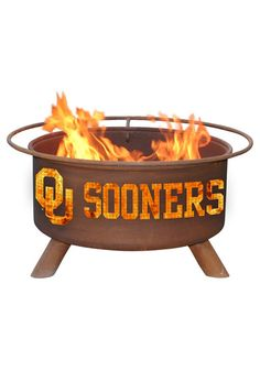 Oklahoma Sooners Outdoor Fire Pit. We have this in our yard. Love it!!