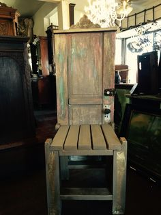 Seat made from an old door