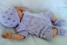 All-in-one. New baby gift. Coming home. All-in-one. New baby gift. Reborn Babies, Reborn Dolls, Baby Dolls, Knitted Baby Outfits, Baby All In One, Baptism Outfit, Victorian Dollhouse, Modern Dollhouse, Vintage Paper Dolls