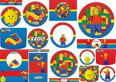 Lego Party: Free Printables Candy Bar Labels and Toppers.