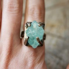 Aquamarine Regal Ring Sterling by We are Here