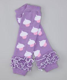 Purple Cupcake Birthday Legwarmers - A Pocket Full of Sunshine Boutique