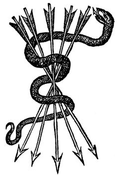 snake and arrows