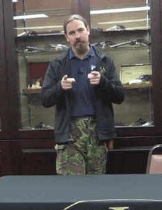 Ian McCollum of Forgotten Weapons with Burgess Folding Shotgun Weapons Guns, Guns And Ammo, Revolver, Firearms, Shotguns, Concept Weapons, Tactical Gear, Tactical Knife, Cool Guns