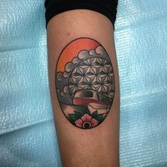 Steve Oker Tattoos. (not this tattoo, just the tattoo artist) Miniature Epcot ⚪️