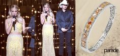 Country superstar Carrie Underwood shimmers in Parade jewels while presenting at the CMAs! Reverie Collection bangle (BD2272A).