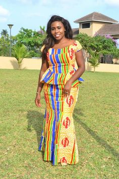 Kente Styles Mixed With Lace Attires For African. kente styles with lace fabrics have always created African Fashion Ankara, Latest African Fashion Dresses, African Dresses For Women, African Print Dresses, African Print Fashion, African Attire, African Wear, African Style, African Women