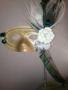 My, bride. Golden peacock mask