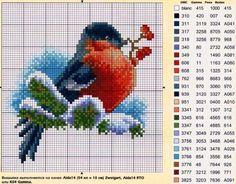 cross stitch bird on a branch Cross Stitch Bird, Cross Stitch Animals, Cross Stitch Charts, Cross Stitch Designs, Cross Stitching, Cross Stitch Embroidery, Embroidery Patterns, Cross Stitch Patterns, Loom Patterns